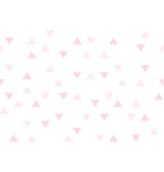 pink love colorful abstract triangles retro paper vector image