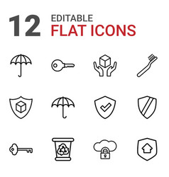 protect icons vector image