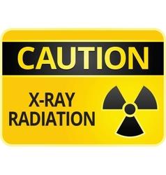 radiation hazard sign vector image
