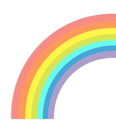 Rainbow on white background Isolated Flat design vector image