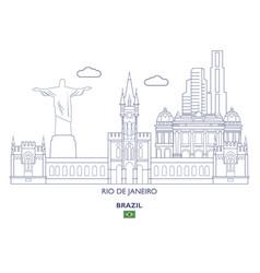 Rio de janeiro city skyline vector