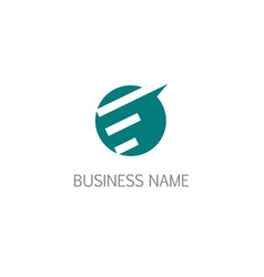 round abstract line business logo vector image