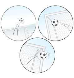 Scoring a Goal Football Images vector image