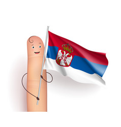 Serbia flag waving vector