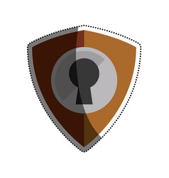 shield security abstract lock vector image