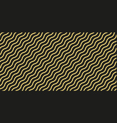 simple gold wavy line seamless pattern vector image