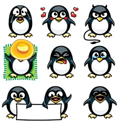 Smiley penguins vector