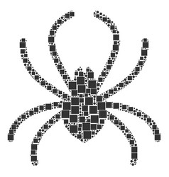 Spider mosaic of squares and circles vector