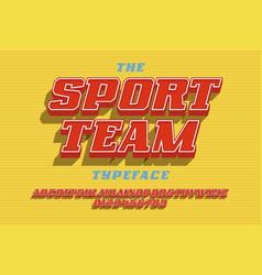 sport team font vector image