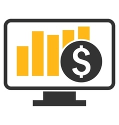 Stock Market Monitoring Flat Icon vector