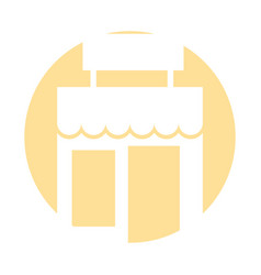 Store building front icon vector