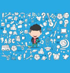 Student boy idea on school and education vector