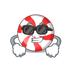 Super cool peppermint candy character cartoon vector