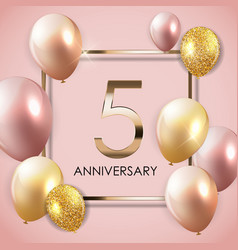 Template 5 years anniversary background with vector