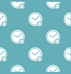 time minus pattern seamless blue vector image