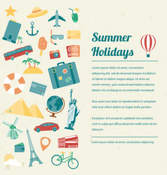 Travel brochure travel and tourism concept vector