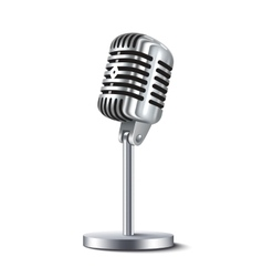 Vintage Microphone Isolated vector