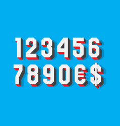 Volumetric contrasting numbers with currency vector