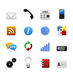 web icons a set of web icons in vector image