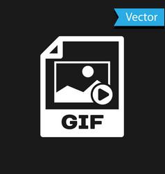 White gif file document icon download gif button vector