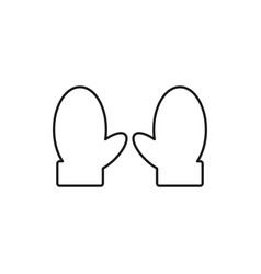 Wool gloves icon vector