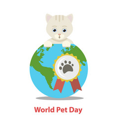 world pet day vector image