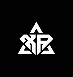 Xa monogram logo with diamond shape and triangle vector