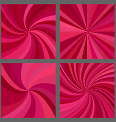 Abstract spiral and ray burst background set vector