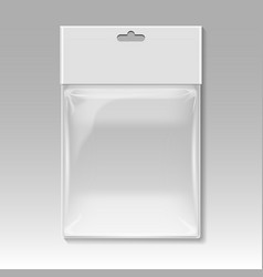 Blank plastic pocket bag template vector image