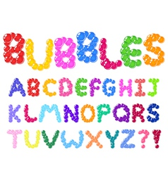 bubbles alphabet vector image