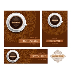 Coffee Print Template vector image vector image