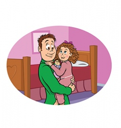 daddy daughter vector image vector image
