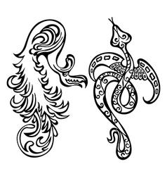 dragon fancy vector image