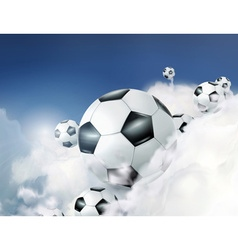 Football in the clouds vector image vector image