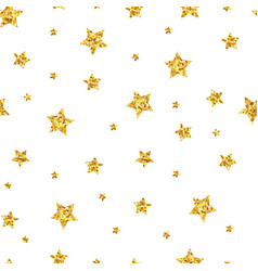 seamless pattern background with gold stars vector image vector image