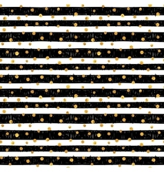 Seamless pattern with gold dots vector image vector image