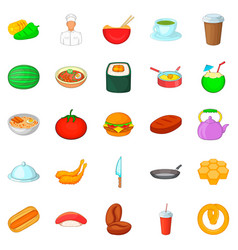 Sup icons set cartoon style vector