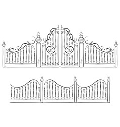 Gate drawing vector