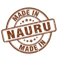 made in nauru brown grunge round stamp vector image