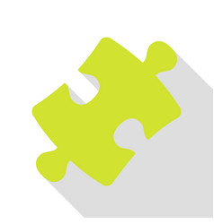 puzzle piece sign pear icon with flat style vector image vector image