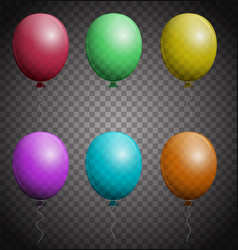 Set of color balloons vector