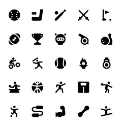 Sports and Games Icons 2 vector image