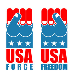 usa force hand american freedom fist us national vector image vector image