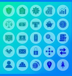 bitcoin circle solid icons vector image vector image