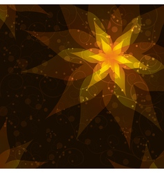 Bright background with flower Invitation or vector image vector image