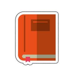 cartoon textbook school learn image vector image