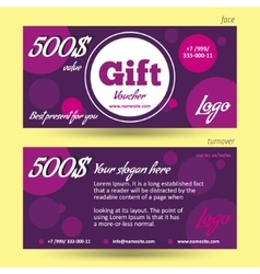Discount voucher template violet background vector image vector image