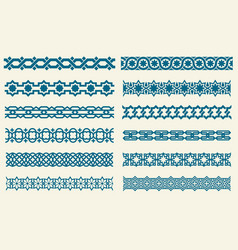 islamic ornaments link seamless decorative vector image vector image