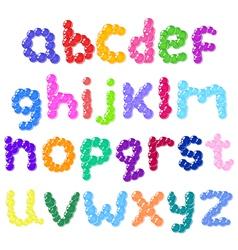 lower case bubbles alphabet vector image vector image