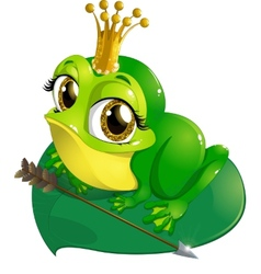 Princess the frog vector image